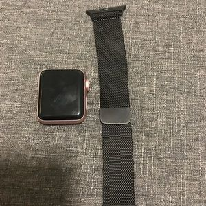 Apple Watch 38mm Black Metal Watch Band